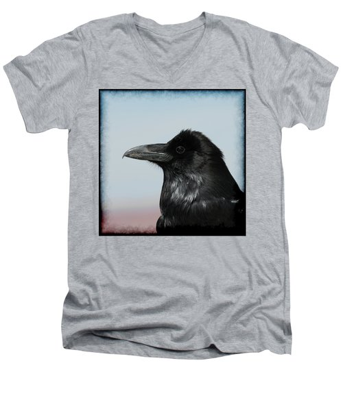 Raven Profile Men's V-Neck T-Shirt