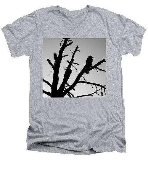 Raven Tree II Bw Men's V-Neck T-Shirt