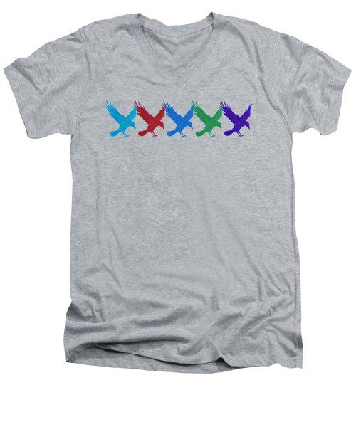 Ravens Apparel Design Men's V-Neck T-Shirt by Teresa Ascone