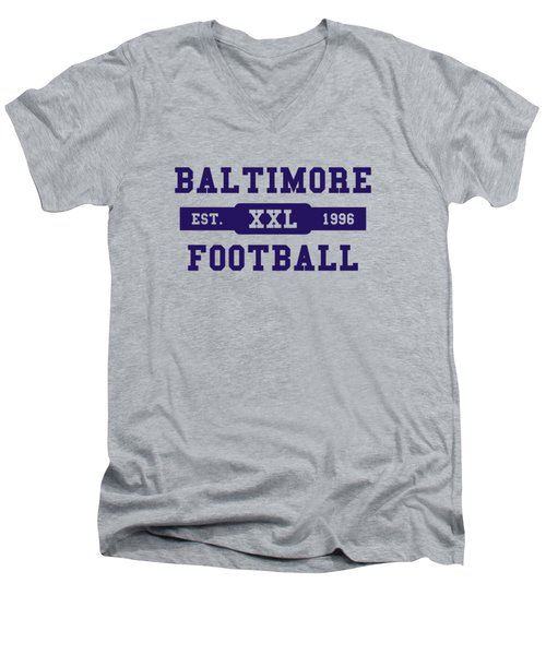 Ravens Retro Shirt Men's V-Neck T-Shirt by Joe Hamilton