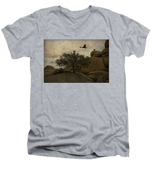Ravens Searching For Food Men's V-Neck T-Shirt
