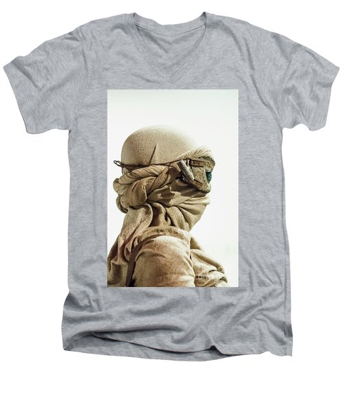 Men's V-Neck T-Shirt featuring the photograph Ray From The Force Awakens by Micah May