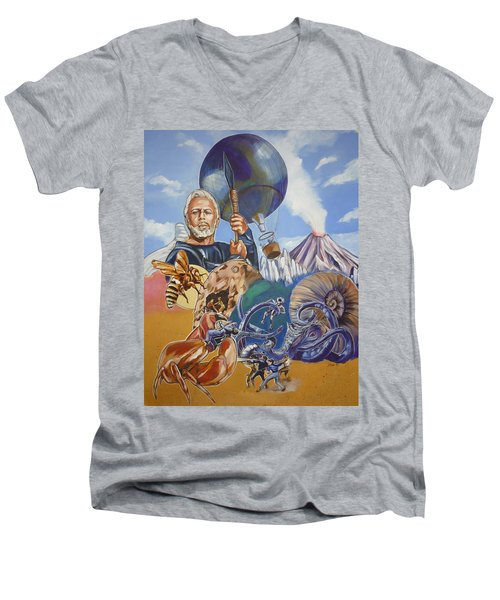 Ray Harryhausen Tribute The Mysterious Island Men's V-Neck T-Shirt