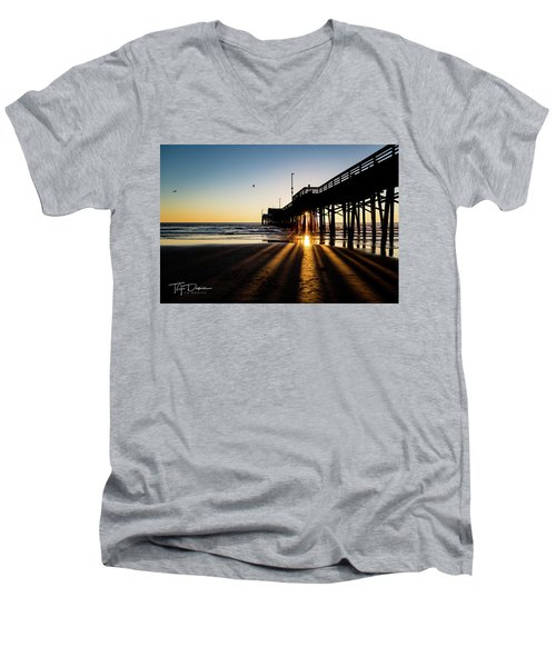 Rays Of Evening Men's V-Neck T-Shirt