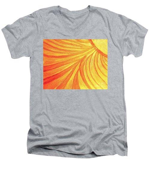 Rays Of Healing Light Men's V-Neck T-Shirt by Rachel Hannah