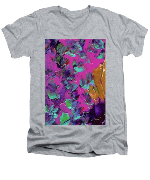 Razberry Ocean Of Butterflies Men's V-Neck T-Shirt
