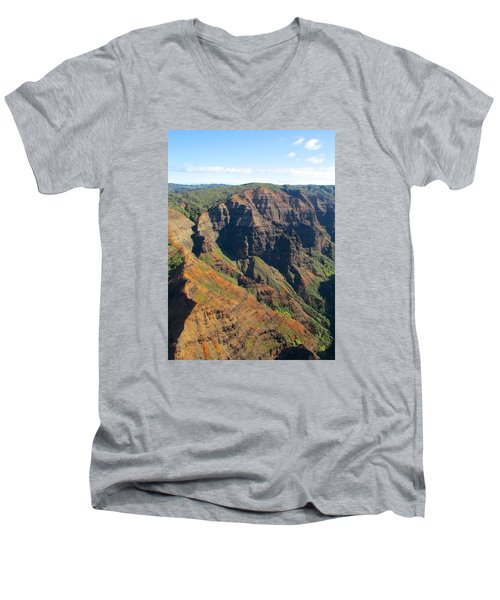 Men's V-Neck T-Shirt featuring the photograph Razor's Edge by Brenda Pressnall