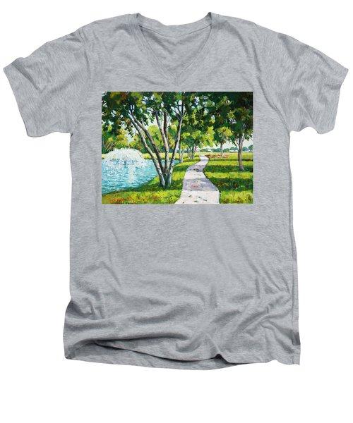 Rcc Golf Course Men's V-Neck T-Shirt