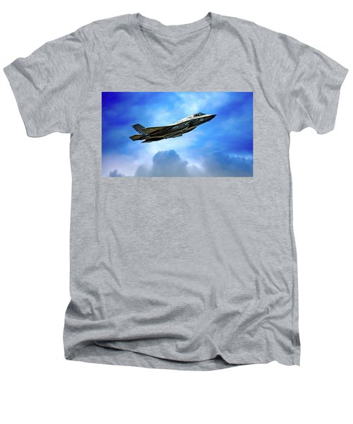 Reach For The Skies Men's V-Neck T-Shirt