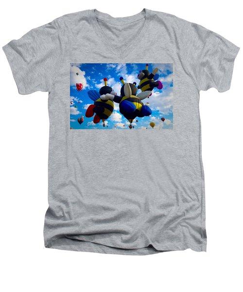 Hot Air Balloon Cheerleaders Men's V-Neck T-Shirt