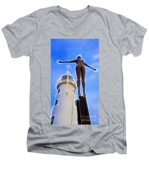 Reaching For Gold Men's V-Neck T-Shirt