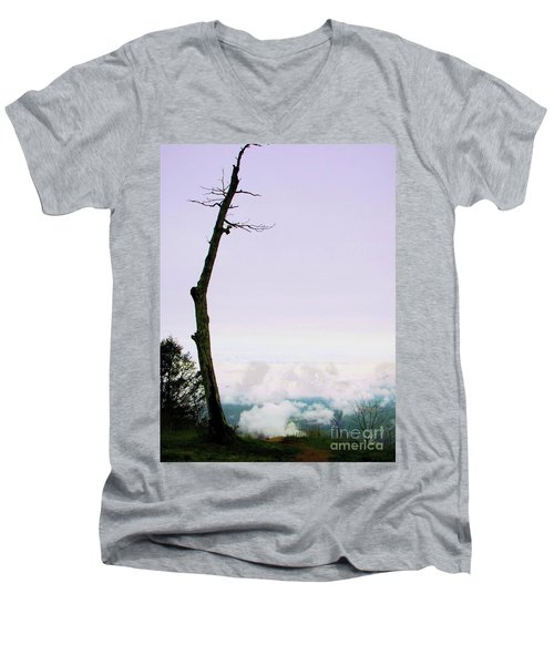 Reaching In The Shenandoah Men's V-Neck T-Shirt