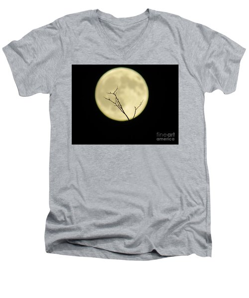 Reaching Out Into The Night Men's V-Neck T-Shirt