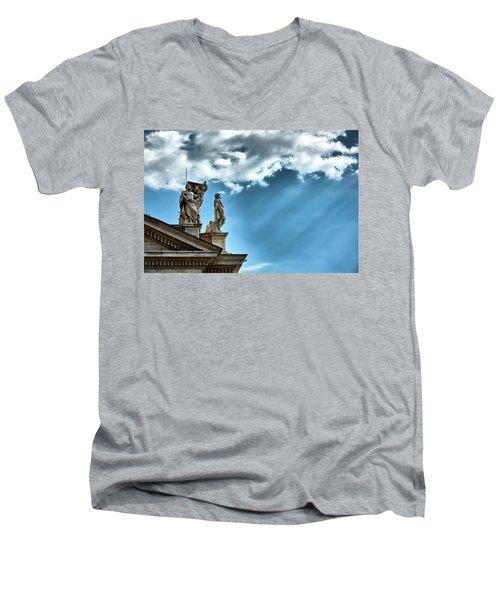 Reaching The Sky Men's V-Neck T-Shirt