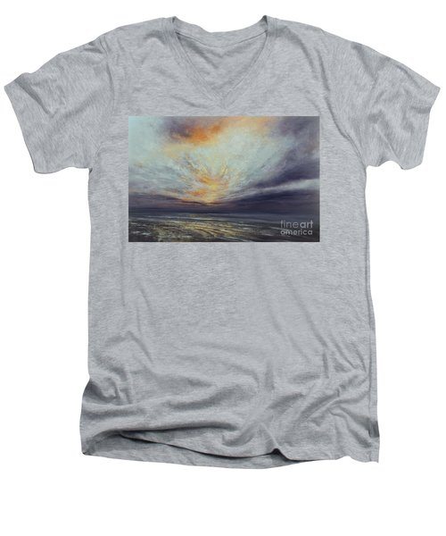 Reaching Higher Men's V-Neck T-Shirt by Valerie Travers