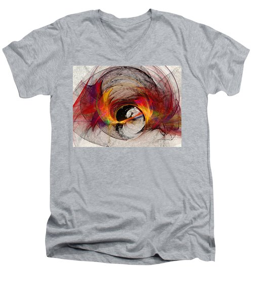 Reaction Abstract Art Men's V-Neck T-Shirt