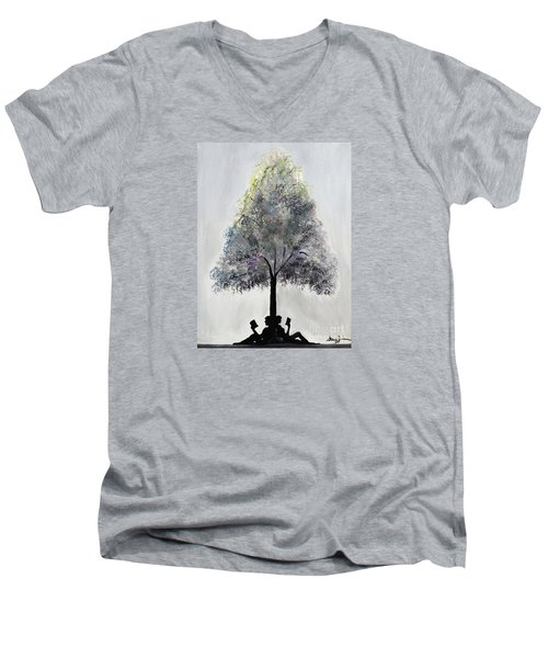 Reading Tree Men's V-Neck T-Shirt