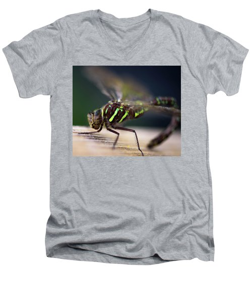 Ready For Takeoff Men's V-Neck T-Shirt by Sherman Perry