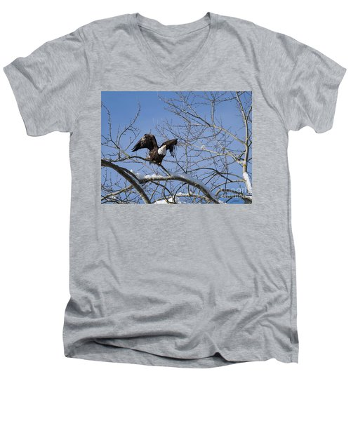Men's V-Neck T-Shirt featuring the photograph Ready by Jim  Hatch