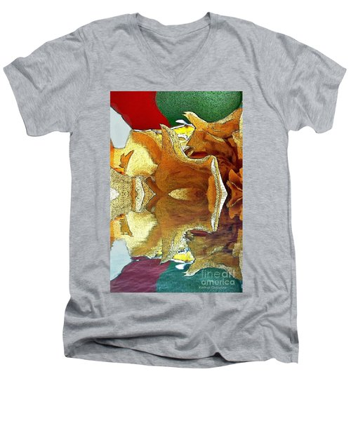 Men's V-Neck T-Shirt featuring the photograph Ready To Fly by Kathie Chicoine