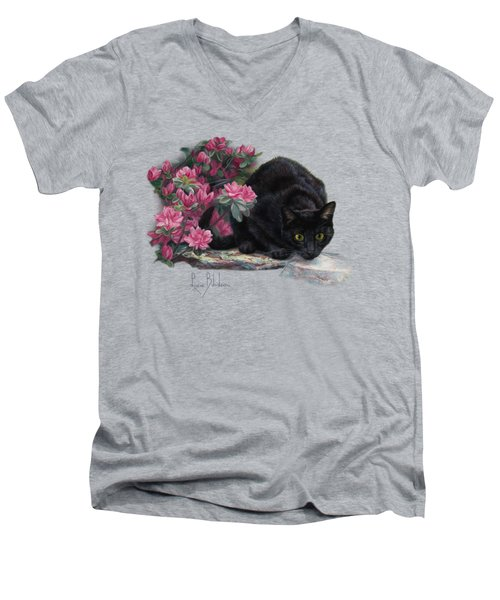 Ready To Pounce Men's V-Neck T-Shirt