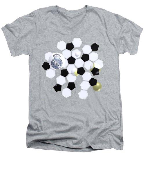 Real Madrid In Football Sky Men's V-Neck T-Shirt