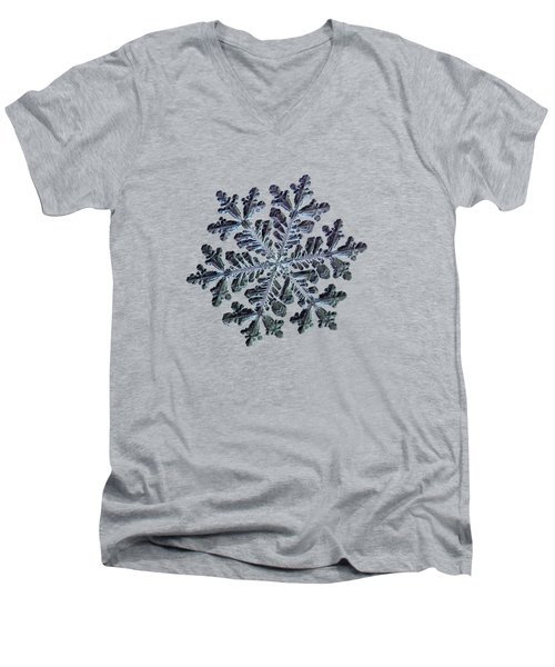 Real Snowflake - Hyperion Dark Men's V-Neck T-Shirt