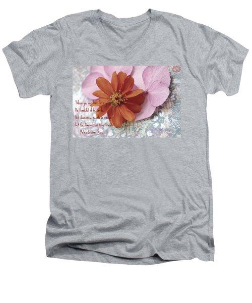 Real True Friends Men's V-Neck T-Shirt