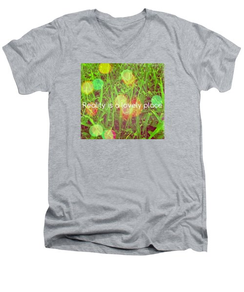 Reality Men's V-Neck T-Shirt by Artists With Autism Inc