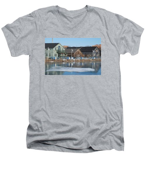Remains Of The Old Fishing Village Men's V-Neck T-Shirt by Janice Adomeit