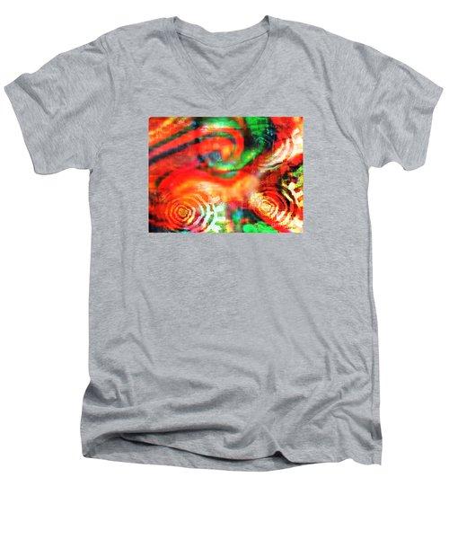 Rebel Men's V-Neck T-Shirt by Fania Simon
