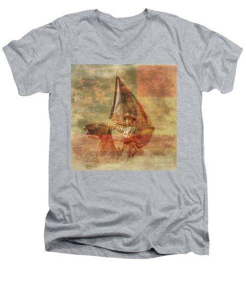 Rebel Pride Southern Proud Men's V-Neck T-Shirt