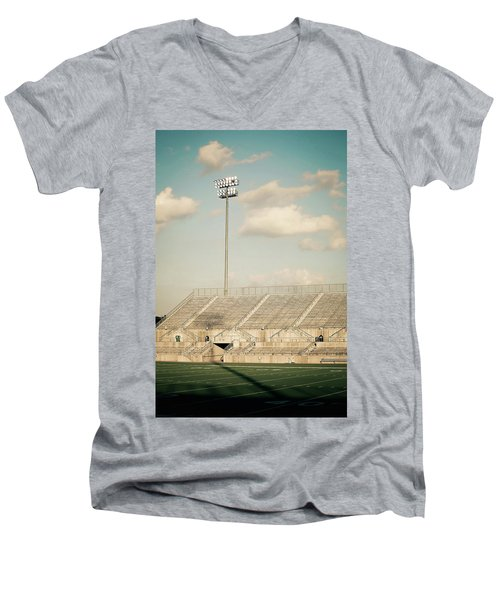 Men's V-Neck T-Shirt featuring the photograph Recalling High School Memories by Trish Mistric