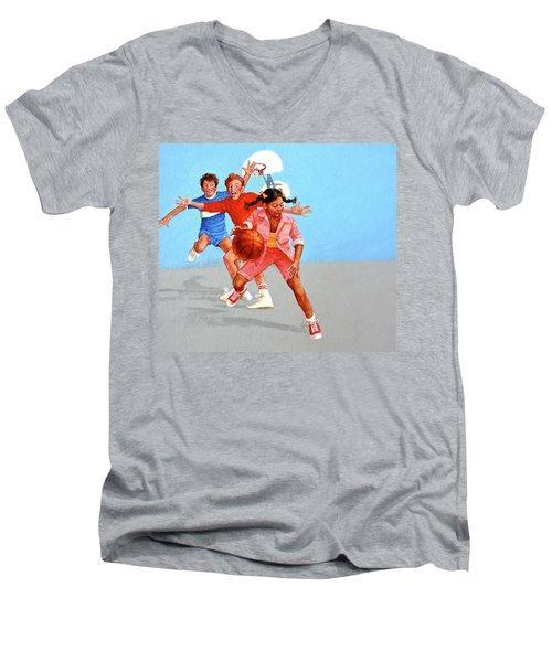 Recess Men's V-Neck T-Shirt