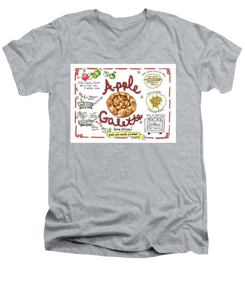 Recipe- Apple Galette Men's V-Neck T-Shirt