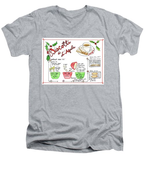 Recipe Biscotti Men's V-Neck T-Shirt