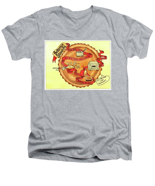 Recipe-butternut Squash Pie Men's V-Neck T-Shirt