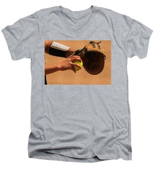 Recoiling Into A Throw Men's V-Neck T-Shirt