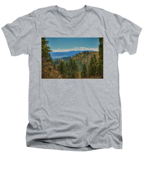 Recovery After Fire At Yellowstone Men's V-Neck T-Shirt