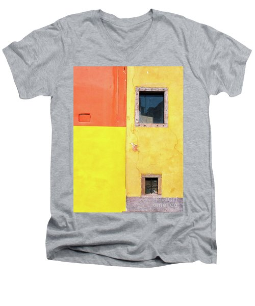 Men's V-Neck T-Shirt featuring the photograph Rectangles by Silvia Ganora