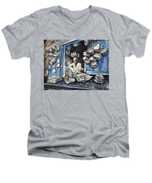 Recycle  Men's V-Neck T-Shirt