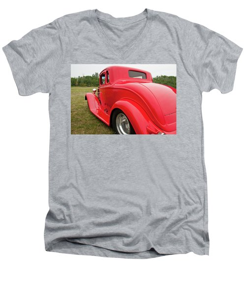 Men's V-Neck T-Shirt featuring the photograph Red 1994 by Guy Whiteley