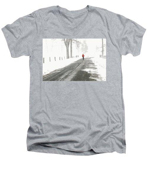 Red 2 - Men's V-Neck T-Shirt