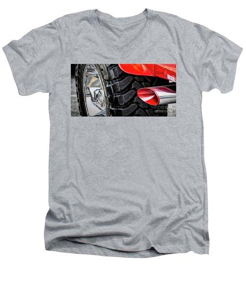 Red 4x4 Men's V-Neck T-Shirt