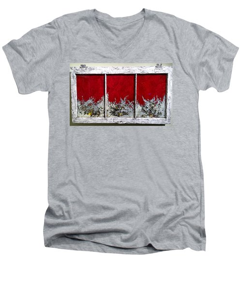 Red And White Widow # 2 Men's V-Neck T-Shirt