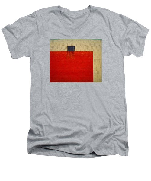 Red And Yellow Wall Men's V-Neck T-Shirt