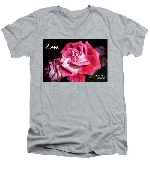 Red Beauty 3 - Love Men's V-Neck T-Shirt