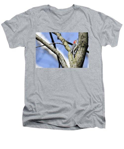 Red-bellied Woodpecker Men's V-Neck T-Shirt by Gary Wightman