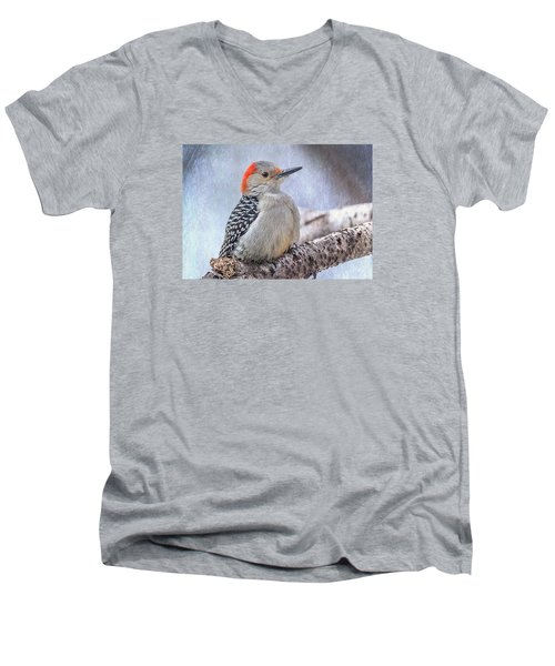 Red-bellied Woodpecker Men's V-Neck T-Shirt by Patti Deters