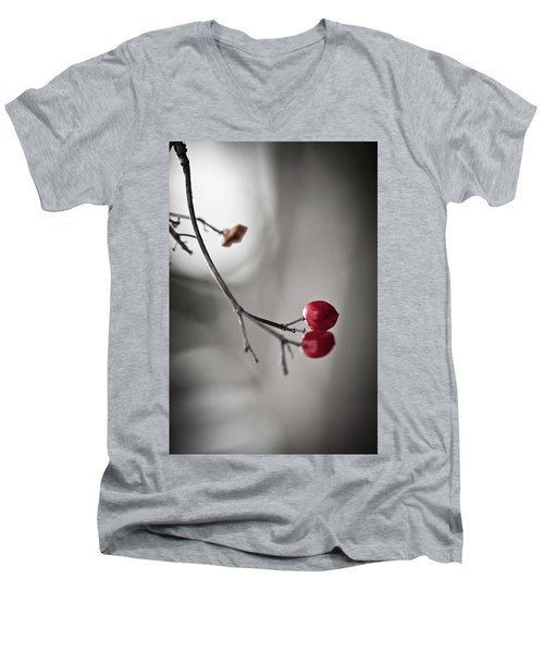 Red Berries Men's V-Neck T-Shirt